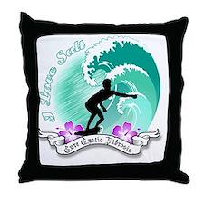 i Love salt Throw Pillow
