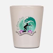 i Love salt Shot Glass