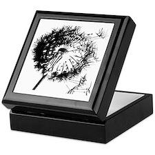 Dandelion BlackGrey Keepsake Box