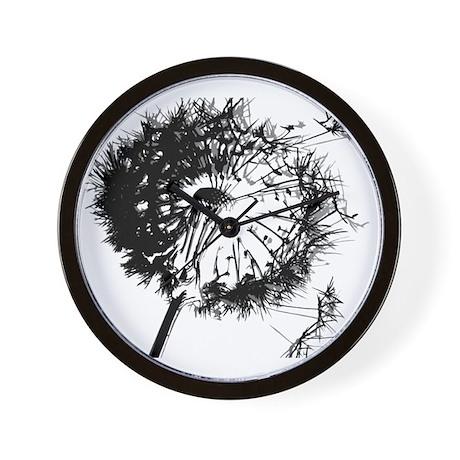 Dandelion BlackGrey Wall Clock