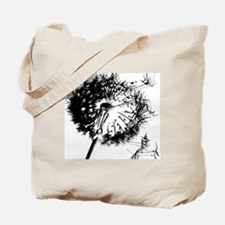 Dandelion BlackGrey Tote Bag