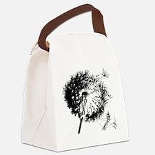 Dandelion BlackGrey Canvas Lunch Bag