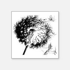 "Dandelion BlackGrey Square Sticker 3"" x 3"""