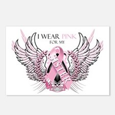 I Wear Pink for my Sister Postcards (Package of 8)