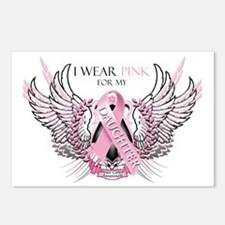 I Wear Pink for my Daught Postcards (Package of 8)