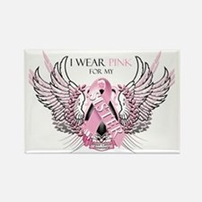 I Wear Pink for my Sister Rectangle Magnet