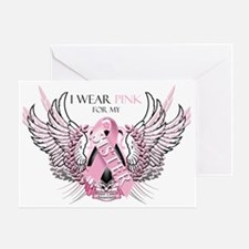 I Wear Pink for my Sister Greeting Card