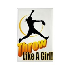 throw like a girl Rectangle Magnet