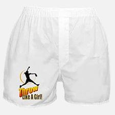 throw like a girl Boxer Shorts