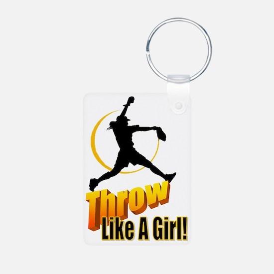 throw like a girl Aluminum Photo Keychain