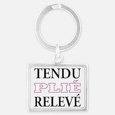 tendu_pink_outline Landscape Keychain