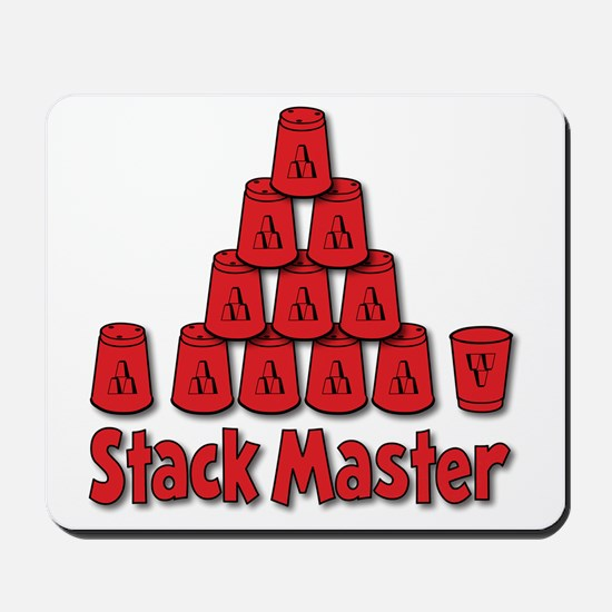 red, Stack Master 1, ck retro shadowed Mousepad