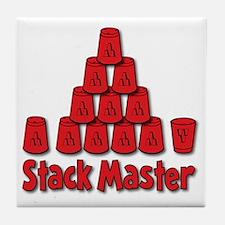 red, Stack Master 1, ck retro shadowe Tile Coaster
