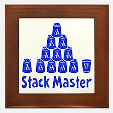 blue2, Stack Master 1, ck retro shadow Framed Tile