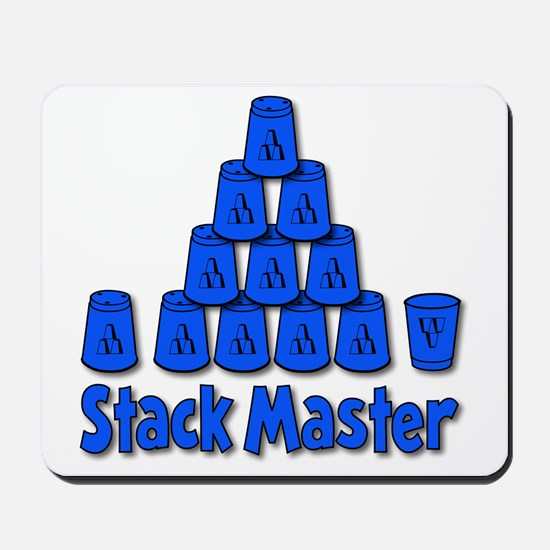 blue, Stack Master 1, ck retro shadowed Mousepad