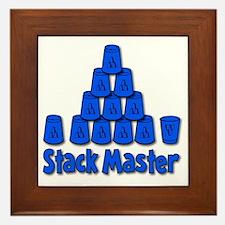 blue, Stack Master 1, ck retro shadowe Framed Tile