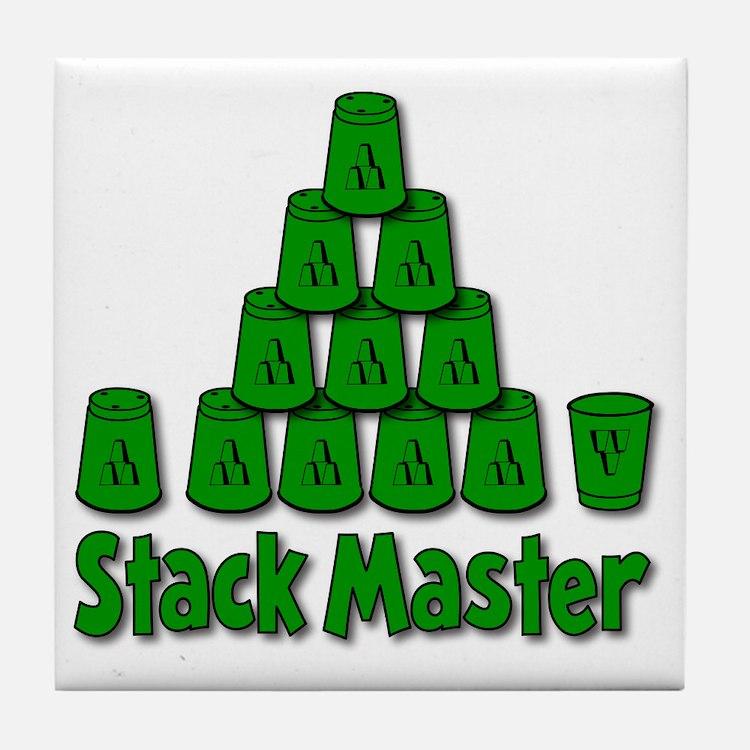 green, Stack Master 1, ck retro shado Tile Coaster