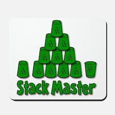 green, Stack Master 1, ck retro shadowed Mousepad