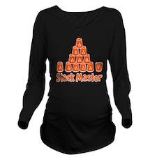 orange2, Stack Maste Long Sleeve Maternity T-Shirt