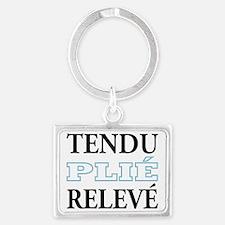 tendu_blue_outline Landscape Keychain