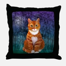 Orange Tabby Cat Throw Pillow