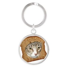 Cat Breading 02 copy Round Keychain