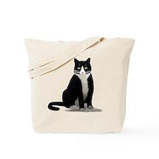 Tuxedo Kitty Cat Tote Bag