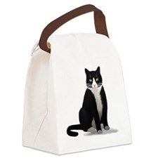 Tuxedo Kitty Cat Canvas Lunch Bag