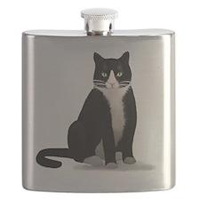 Tuxedo Kitty Cat Flask