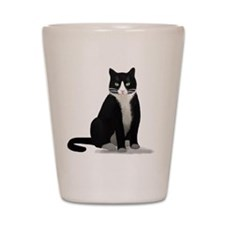 Tuxedo Kitty Cat Shot Glass