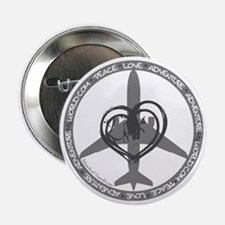 "Peace Love Adventure - Gray 2.25"" Button"