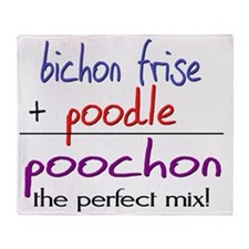 poochon Throw Blanket