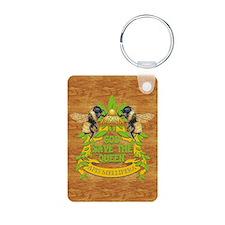 queen wood journal Keychains