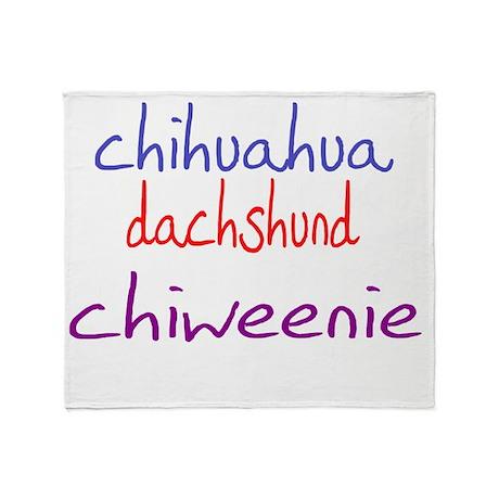 chiweenie_black Throw Blanket