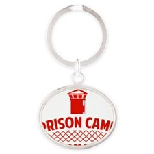 prisonCamp1D Oval Keychain