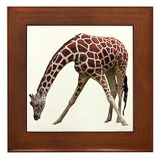 giraffeCutOut Framed Tile