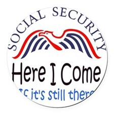 SS Here I Come if its still there Round Car Magnet
