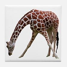 giraffeCutOut Tile Coaster