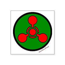 "Chemical Hazard 6000 Square Sticker 3"" x 3"""