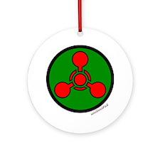 Chemical Hazard 6000 Round Ornament