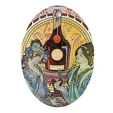 441 Mucha Bene Oval Ornament