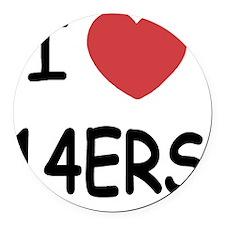 14ERS Round Car Magnet