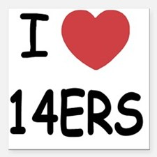 "14ERS Square Car Magnet 3"" x 3"""