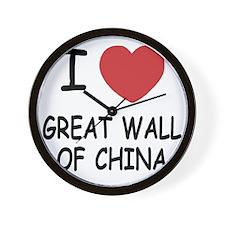 GREAT_WALL_OF_CHINA Wall Clock