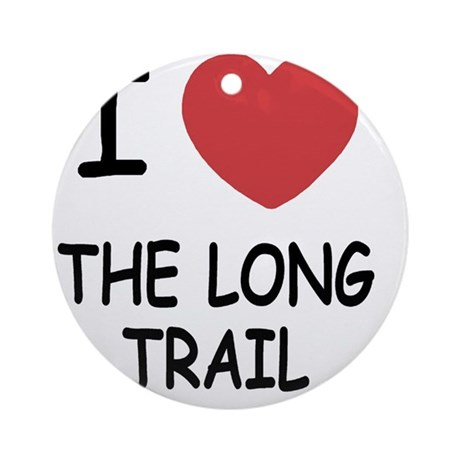 THE_LONG_TRAIL Round Ornament