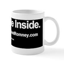 Dogs Against Romney bumber-pug-I ride i Small Mug