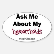 Hemorrhoids Oval Decal