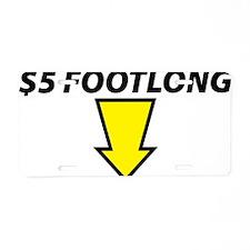 footlong Aluminum License Plate