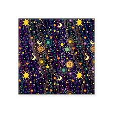 "MardiGypsy460_ipadPat Square Sticker 3"" x 3"""