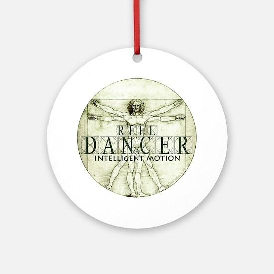 reel dancer da vinci intelligent mo Round Ornament